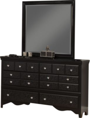 Sandberg Furniture Eva Dresser with Mirror