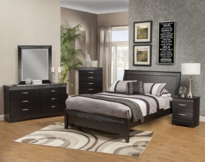 Sandberg Furniture Jolie 4-Piece King Bedroom Set