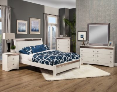 Sandberg Furniture Celeste 4-Piece King Bedroom Set