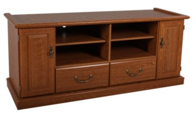 Sauder Orchard Hills 60-Inch Oak Entertainment Center