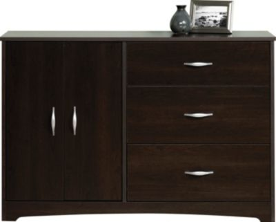 Sauder Beginnings Cinnamon Cherry Dresser