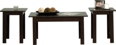 Sauder Beginnings Cinnamon Cherry Coffee Table & Two End