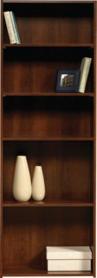 Sauder Beginnings Brook Cherry 5-Shelf Bookcase
