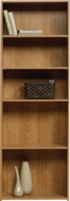 Sauder Beginnings Oak 5-Shelf Bookcase