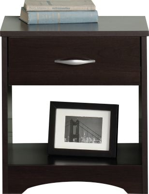 Sauder Beginnings Cinnamon Cherry Nightstand