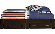 Sauder Beginnings Cinnamon Cherry Twin Platform Bed