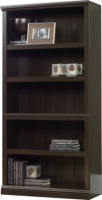 Sauder Select 5-Shelf Cinnamon Cherry Bookcase