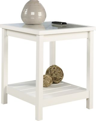 Sauder Cottage Road White End Table