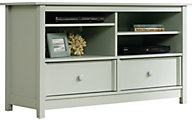 Sauder Original Cottage Teal Entertainment Credenza