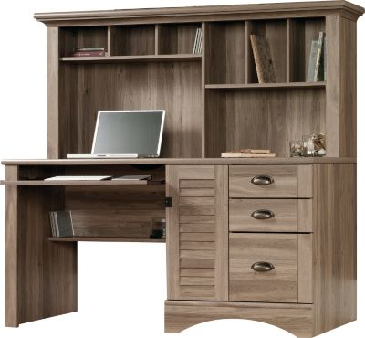 Sauder Harbor View Computer Desk and Hutch