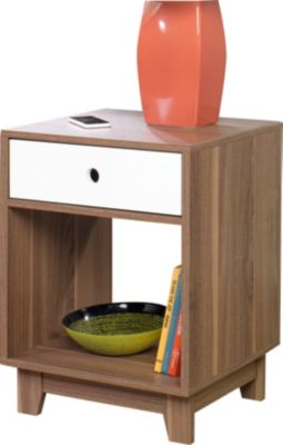 Sauder Soft Modern Walnut Side Table
