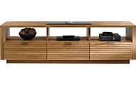 Sauder Soft Modern Pale Oak Entertainment Credenza