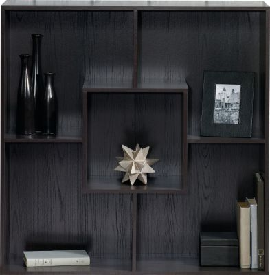 Sauder Square 1 Carbon Ash Bookcase