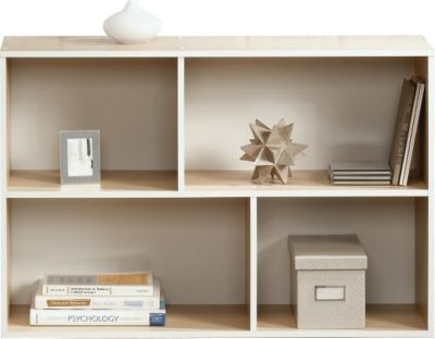 Sauder Square 1 Urban Ash Reversible Bookcase