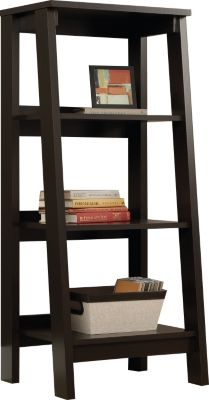 Sauder Select 3-Shelf Jamocha Wood Bookcase