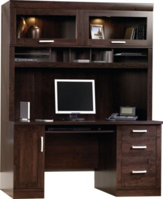 Sauder Office Port Credenza & Hutch