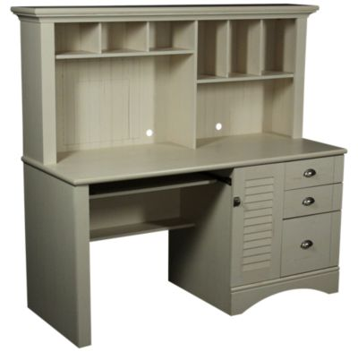 Sauder Harbor Town Computer Desk and Hutch