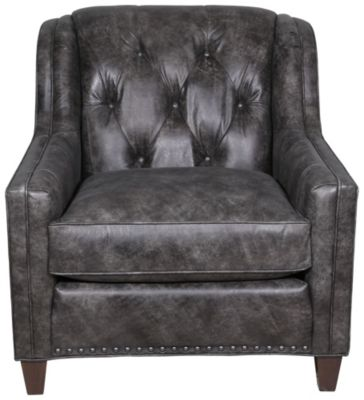 Smith Brothers 228 Collection 100% Leather Chair