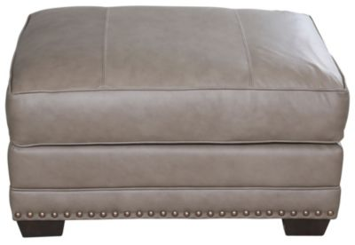 Smith Brothers 229 Collection 100% Leather Ottoman