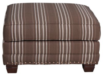 Smith Brothers 393 Collection Striped Ottoman