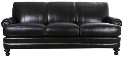 Smith Brothers 346 Collection 100% Leather Sofa