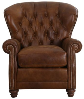 Smith Brothers 522 Collection 100% Leather Chair