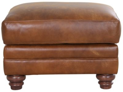 Smith Brothers 522 Collection 100% Leather Ottoman