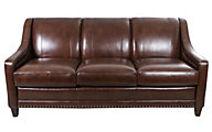 Smith Brothers 233 Collection 100% Leather Sofa