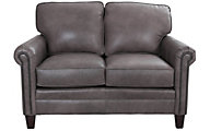 Smith Brothers 234 Collection 100% Leather Loveseat