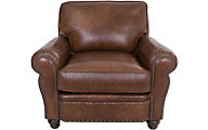 Smith Brothers 237 Collection 100% Leather Chair