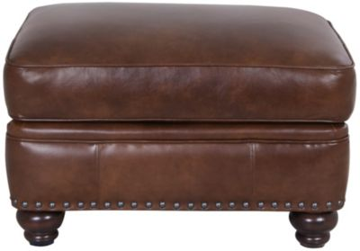 Smith Brothers 237 Collection 100% Leather Ottoman