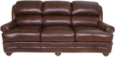 Smith Brothers 311 Collection Brown 100% Leather Sofa