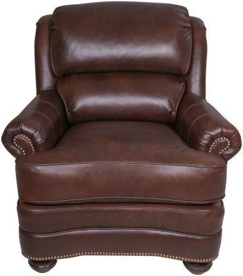 Smith Brothers 311 Collection Brown 100% Leather Chair