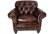 Smith Brothers 396 Collection 100% Leather Chair