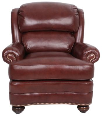 Smith Brothers 988 Collection 100% Leather Tilt-Back Chair