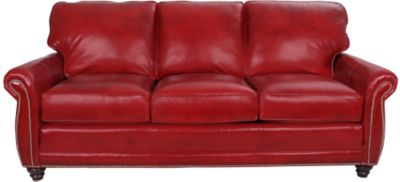 Smith Brothers 302 Collection 100% Leather Sofa
