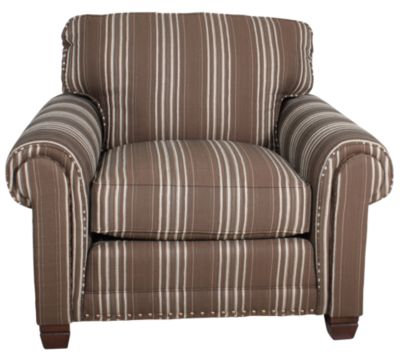 Smith Brothers 393 Collection Striped Chair