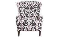 Smith Brothers 502 Collection Wing Accent Chair