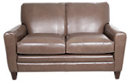 Smith Brothers 225 Collection 100% Leather Loveseat