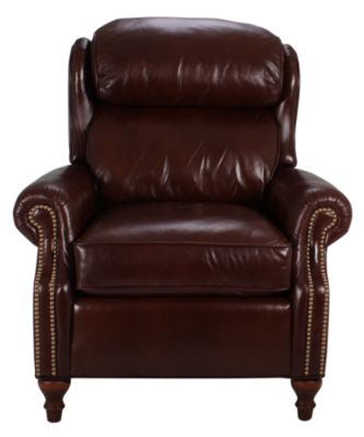 Smith Brothers 932 Collection 100% Leather Recliner