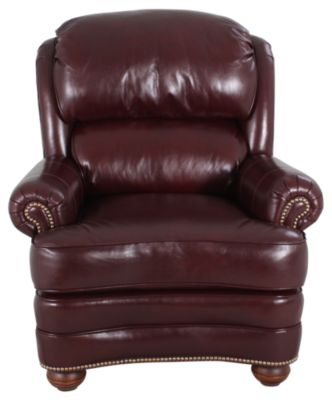 Smith Brothers 988 Collection 100% Leather Recliner