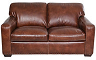 Simon Li J350 Collection 100% Leather Loveseat