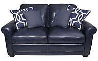 Simon Li Kedida & Quiver 100% Leather Loveseat