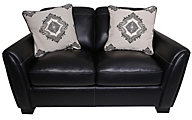 Simon Li Midtown 100% Leather Loveseat