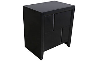 Simmons Buckhead Black Nightstand