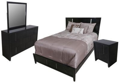 Simmons Buckhead Black 4-Piece Queen Bedroom Set