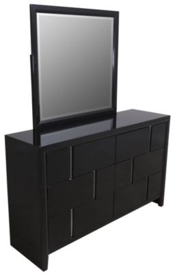 Simmons Buckhead Black Dresser with Mirror