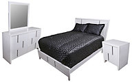 Simmons Buckhead White 4-Piece Queen Bedroom Set