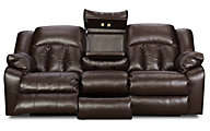 Simmons Sebring Reclining Sofa with Drop Table