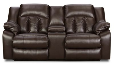 Simmons Sebring Reclining Loveseat with Console